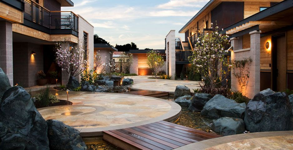 Bardessono Is Nestled In California S Napa Valley The Hotel Wood Was Milled From Salvaged Trees