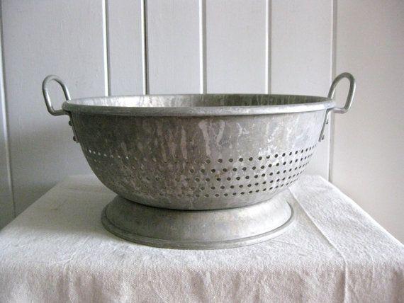 Vintage Colander Very Large Strainer Heavy Aluminum Wear Ever Brand Vintage Strainer Farmhouse Kitchen Vintage Farmhouse Kitchen Enamelware
