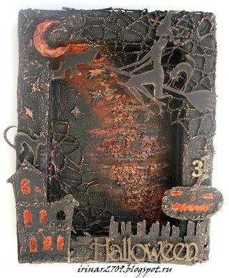 Скрап-ХоббиМания: Altered Canvas Art - Halloween.
