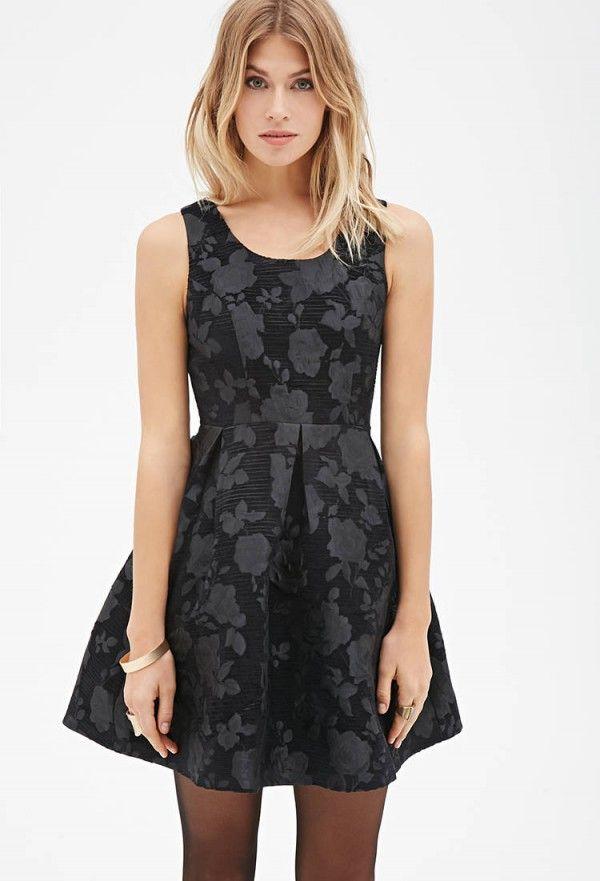 Vestido negro de forever 21