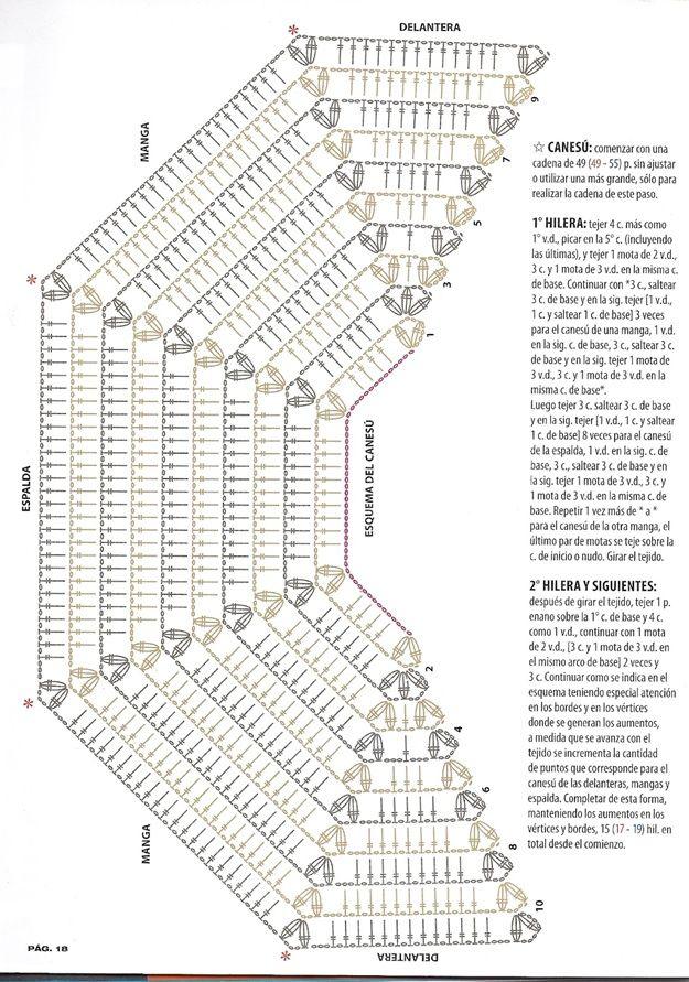 Sol Solorzano | Canesú & Cuello en Tricot - Crochet | Pinterest ...