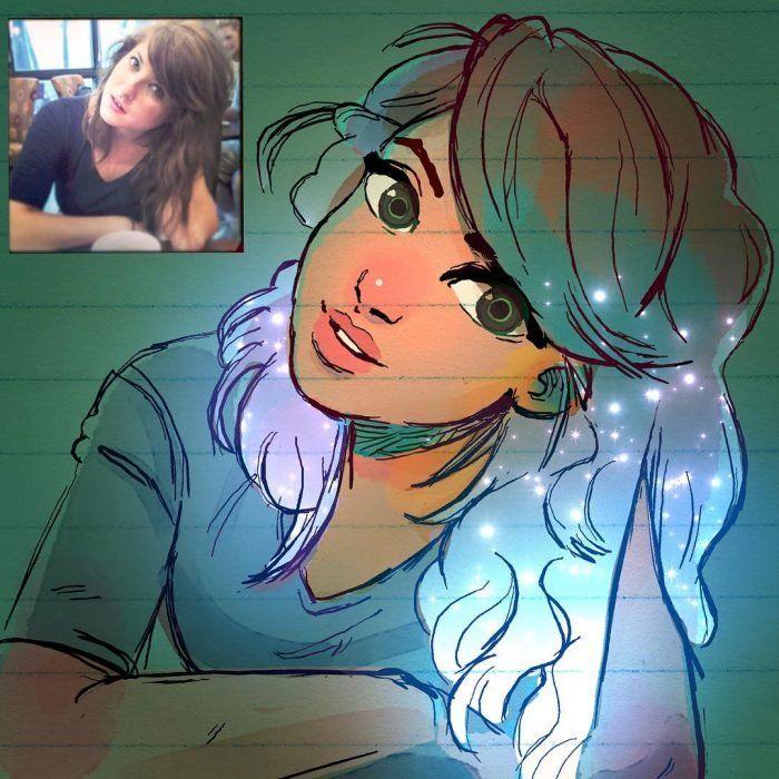 Artista dibuja a 25 chicas y las convierte en increíbles personajes animados