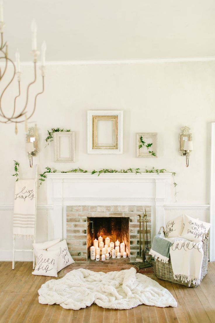 Cozy Fireplace Inspiration by Parris Chic Boutique handmade