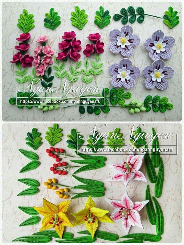 Pin de Linda Boder en Quilled flowers   Pinterest   Hoja, Flores y ...