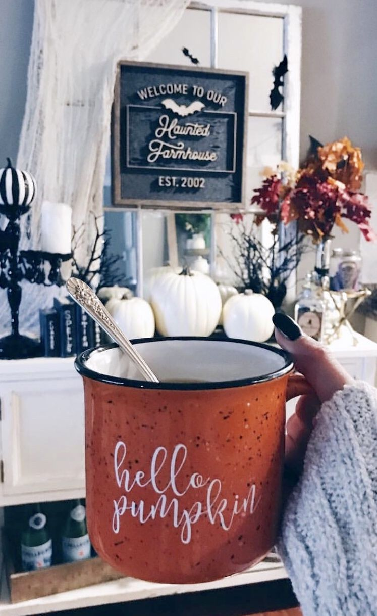 Hello Pumpkin Campfire Coffee Mug - Pretty Collected #greatcoffee