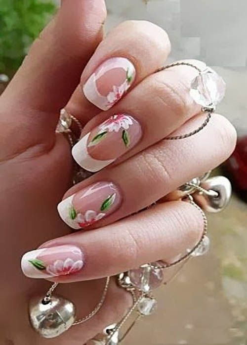9 Simple Flower Nail Art Designs For Beginners Nails Pinterest