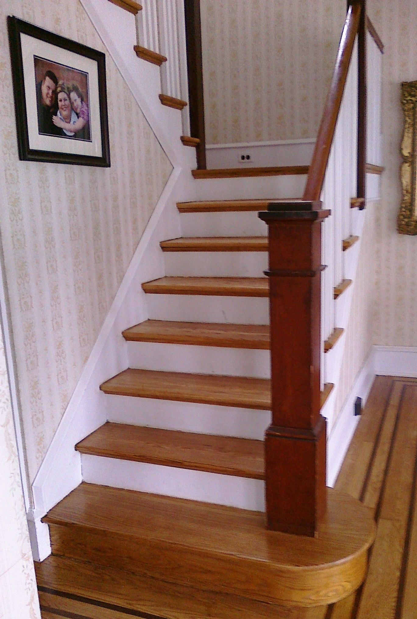 Pin by mountain laurel handrails on stairs oak stairs - Interior stair treads and risers ...