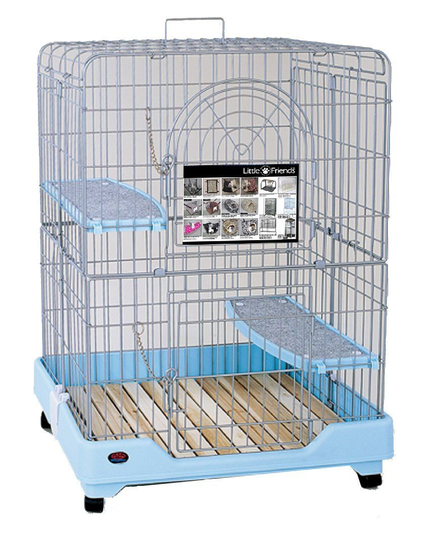 LITTLE FRIENDS Okki 90cm Small Animal Cage With Slatted