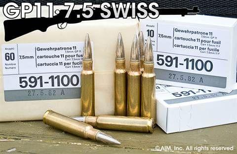 swiss 7 5x55 gp11 174grn fmj 10rd box a ammo firearms reloading