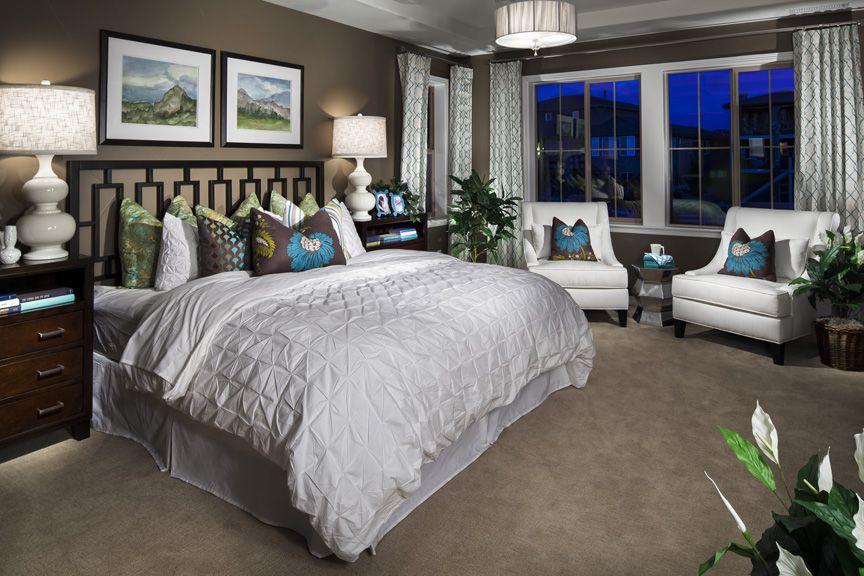 The master bedroom in the Somerset model home in ... on Model Bedroom Interior Design  id=69131