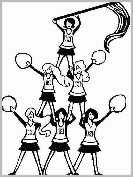 Cheerleading Coloring Pages Google Search Coloring Pages Cute Coloring Pages Cheerleading