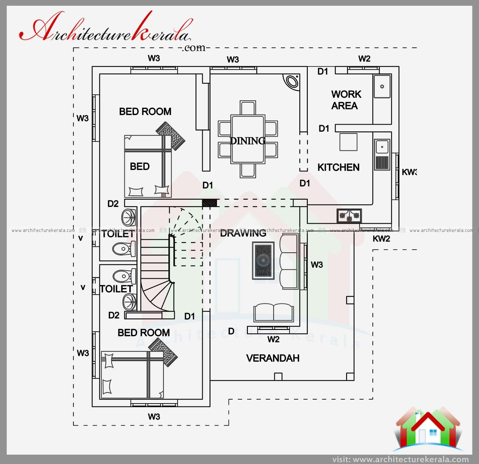 Sqft House Plan And Elevation Kerala I Sq Ft Room Per Acre House Plans Beautiful House Plans Bedroom Floor Plans
