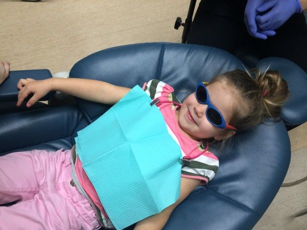 Portia's first visit to Third St. Dental with Dr. Melissa Skinner - www.drmelissaskinner.com