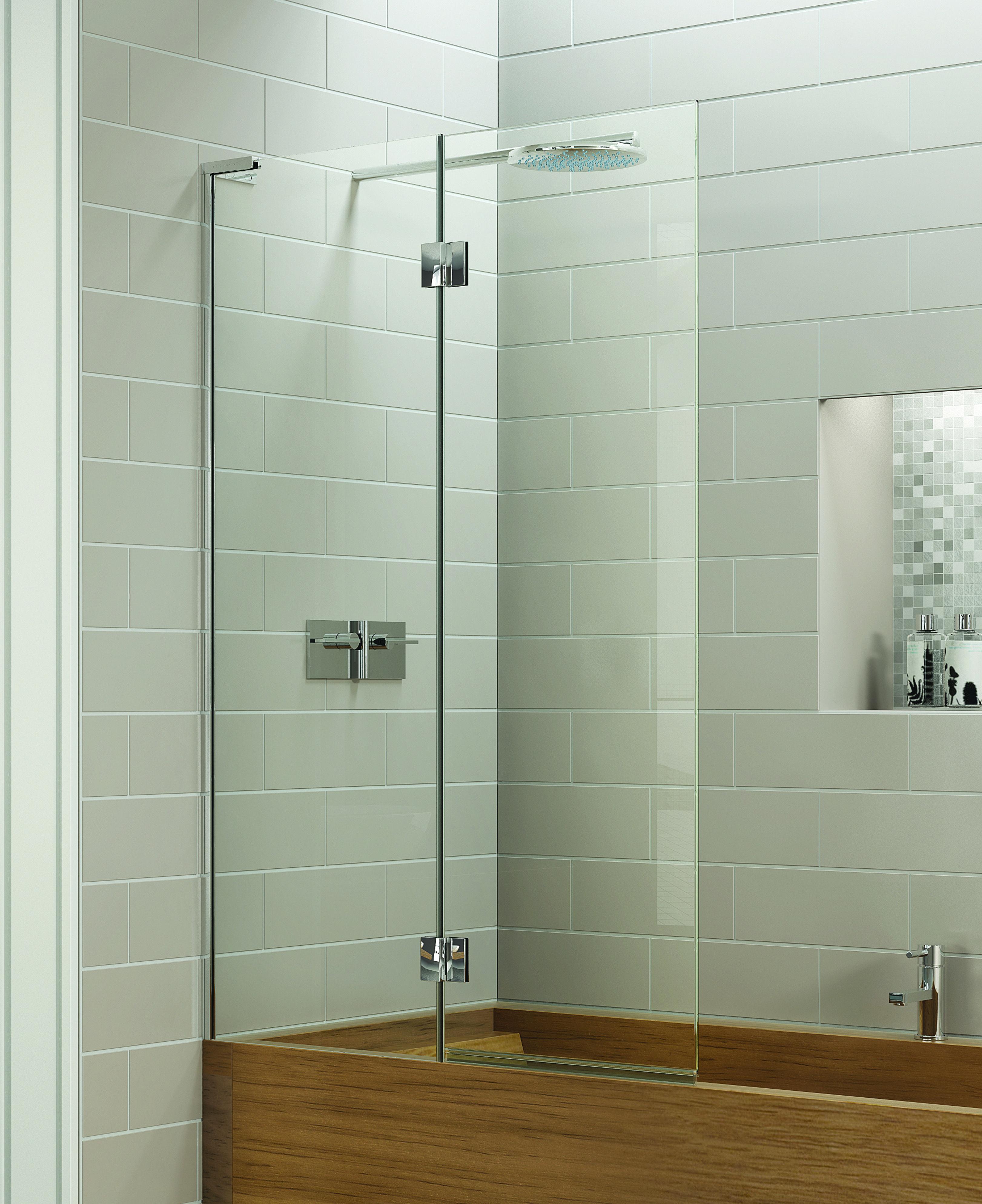 Matki EauZone Plus Double panelled Bath Screen inwards opening ...