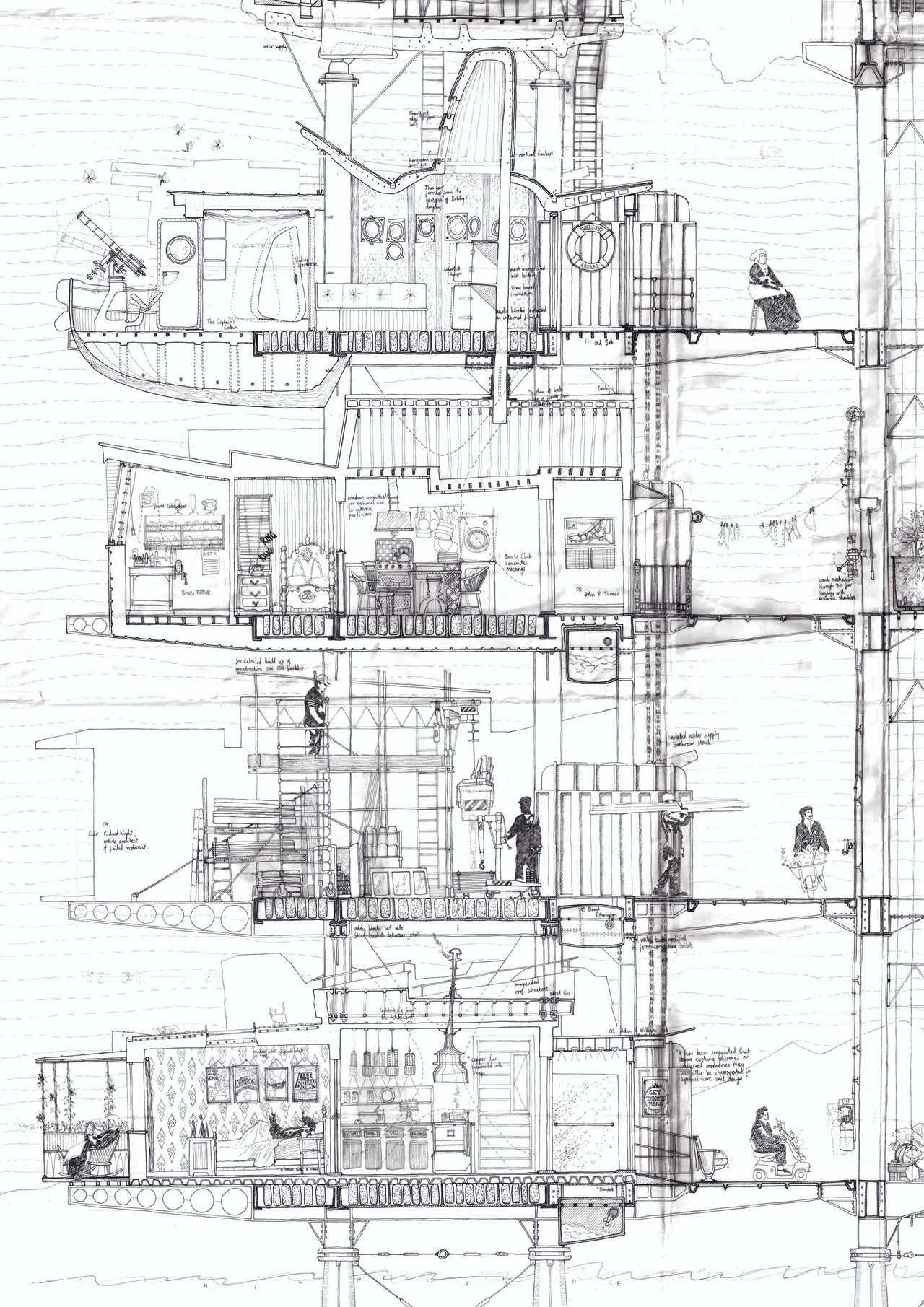 Wonderful Drawing Old Folks Home