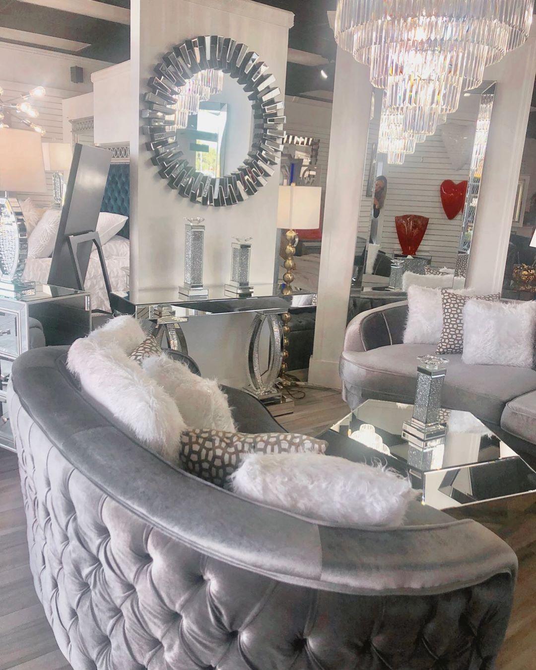 "Coco Furniture Gallery on Instagram: ""New living room displayed @ Birdroad location🖤 - #brickell_living #realestatemiami #love #midtownmiami #interiordesign #southflorida…"""