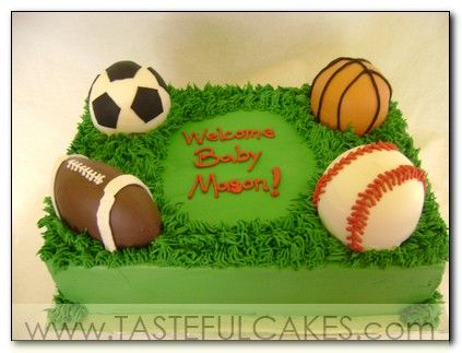 sports soccer cakes Pinterest Basketball hoop Baby shower