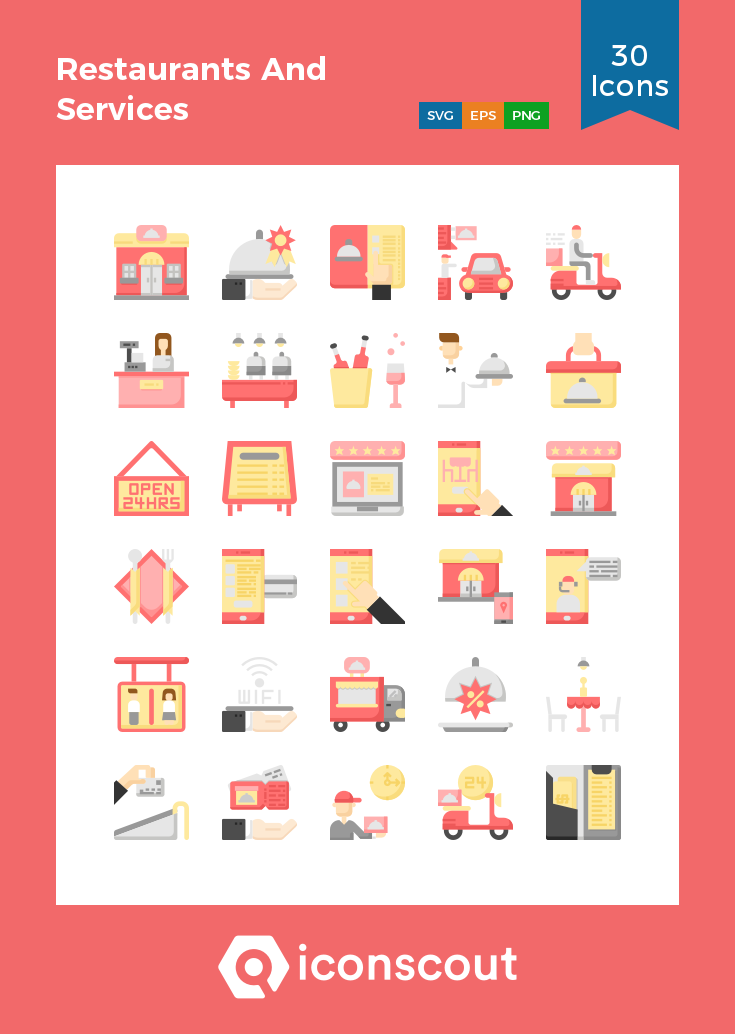 Download Restaurants And Services Icon Pack Available In Svg Png Eps Ai Icon Fonts Icon Pack Icon Font Icon
