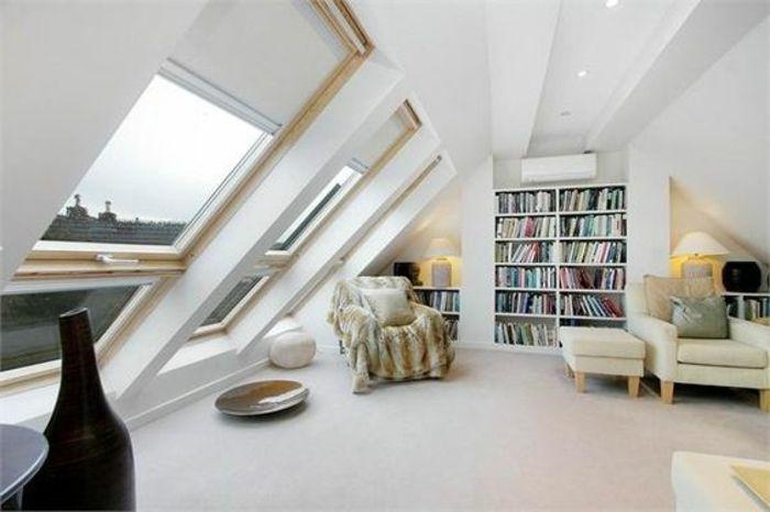 Dachgeschoss Wohnzimmer Bereich Sonnen und Sichtschutz Tipps - wohnzimmer ideen dachgeschoss