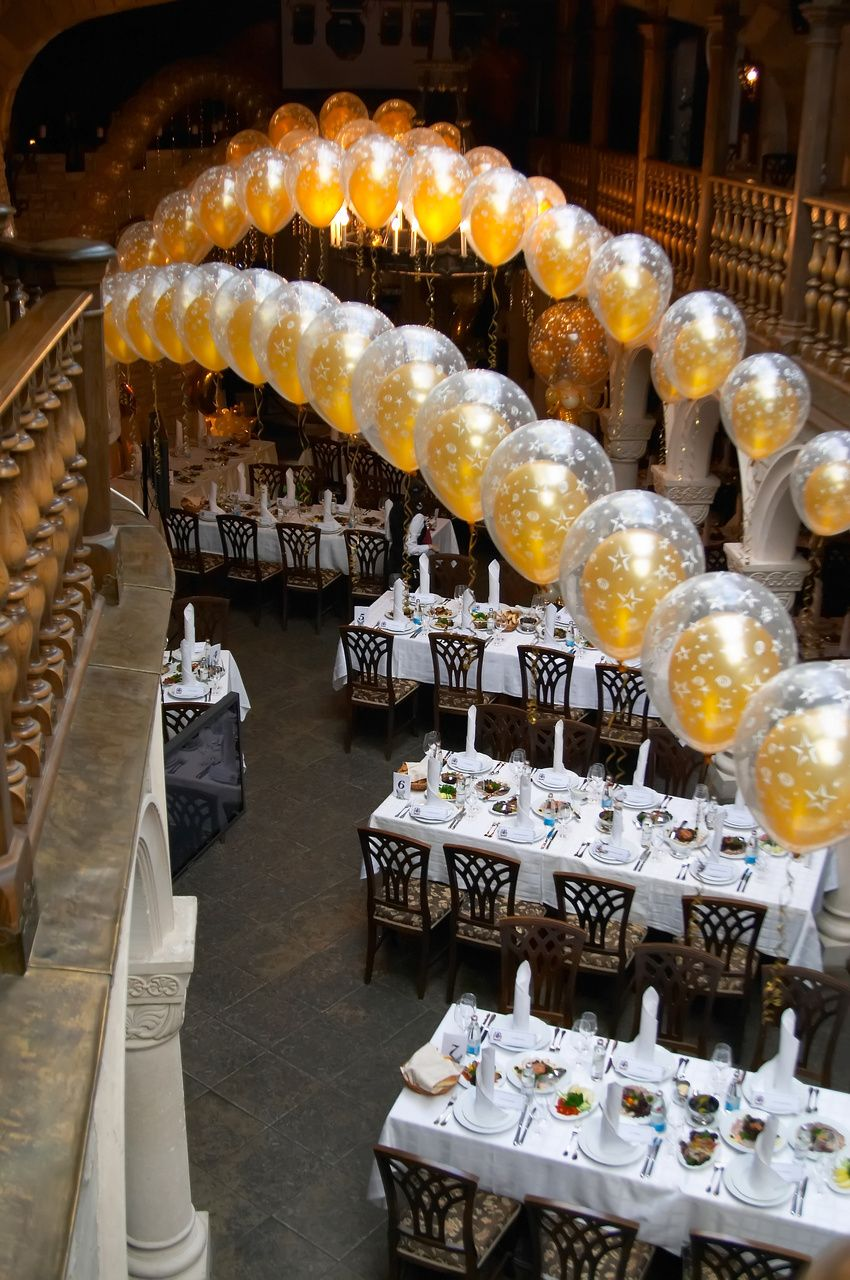 Wedding decoration ideas balloons  Spice Up Your Holiday Party  Anniversary parties Anniversaries and