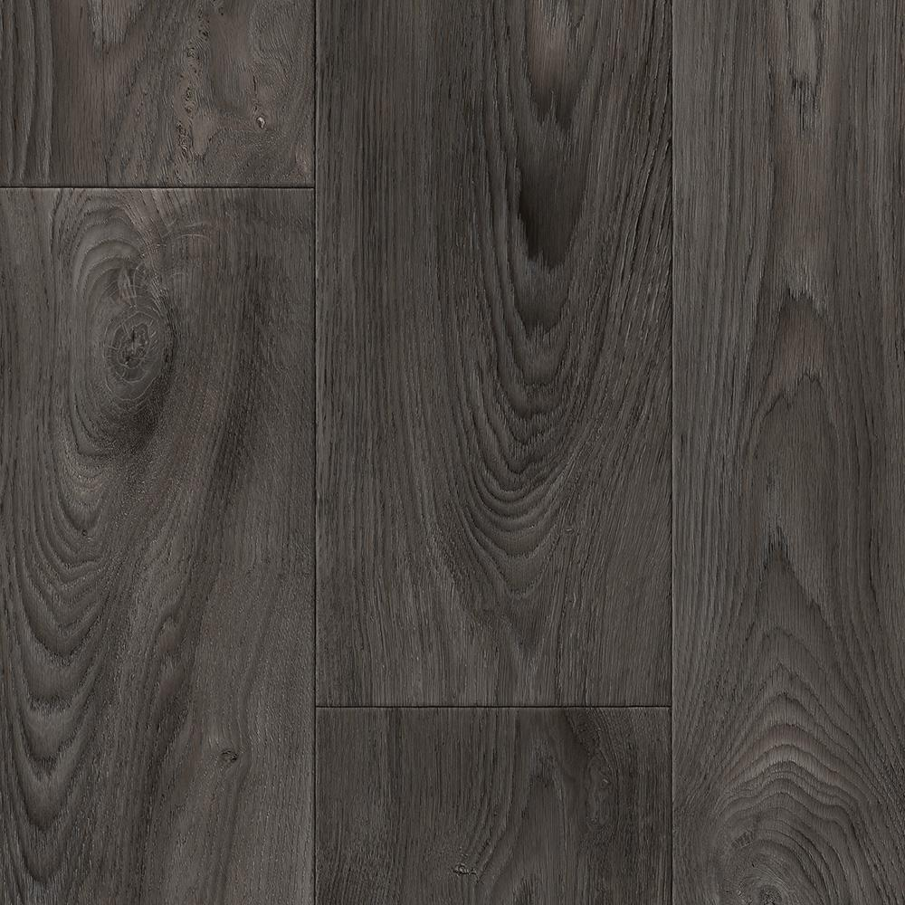 TrafficMASTER Take Home Sample Scorched Walnut Charcoal Vinyl Sheet  6 in x 9 in Dark Gray