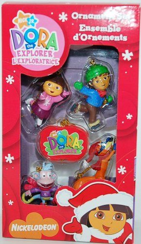 Nick Jr Dora the Explorer Christmas Ornament Set Visit the image