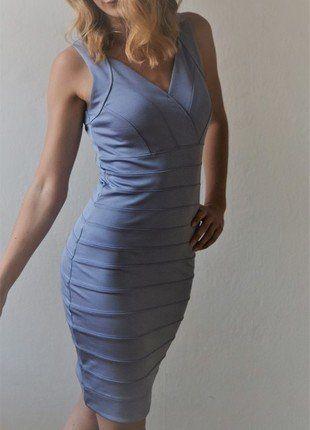 Sexy Kleid in hellblau   klassische Kleider, Hellblau und Sexy
