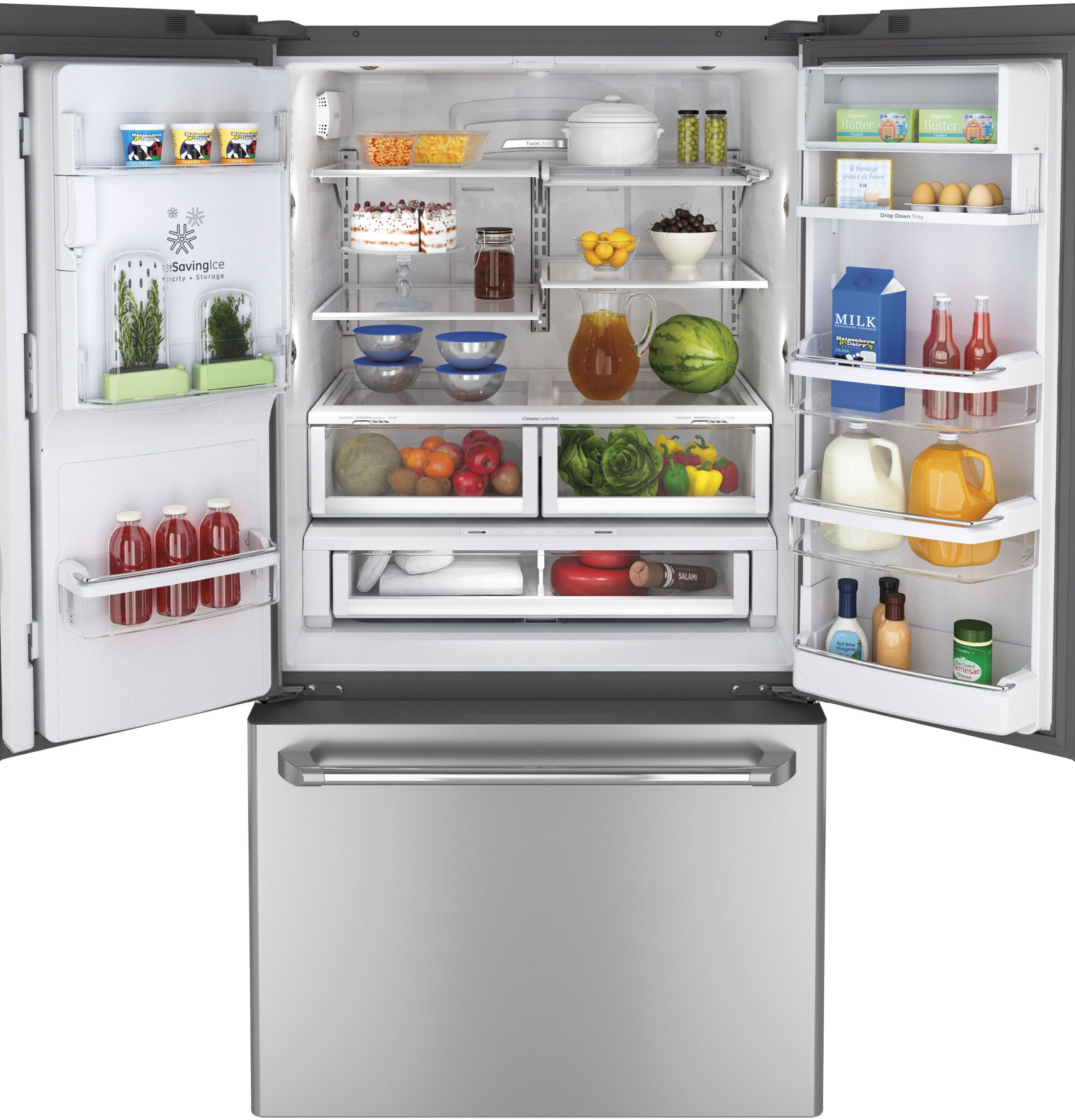 CFE29TSDSS | GE Cafe™ Series ENERGY STAR® 28.6 Cu. Ft. French . Counter  DepthFrench Door RefrigeratorBottom ...