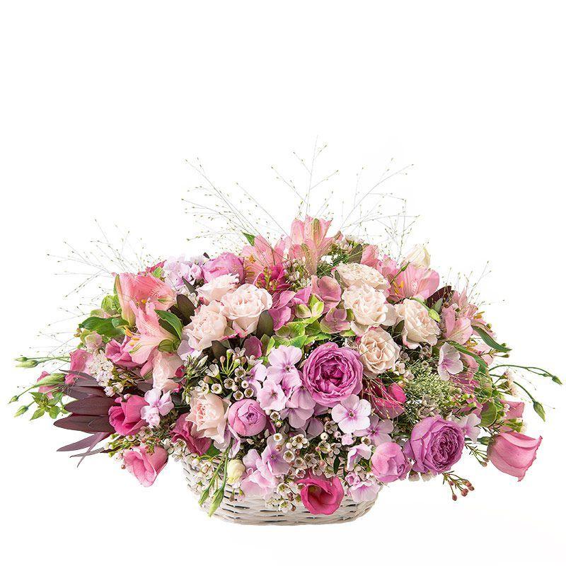 Arpège - Panier romantique de roses et fleurs variées en camaïeu rose -  Interflora dc03dc2234d