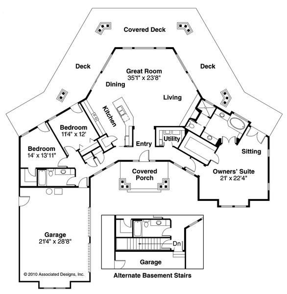 Eddinger 30 328 Hexagonal Home Plan From Associated