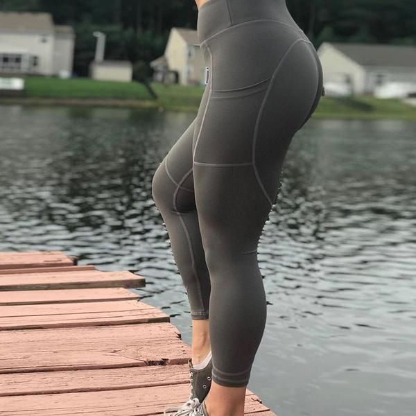 84f4815e41dfe Solid Side Pocket Fitness Leggings- 5 Colors Available in 2019 ...
