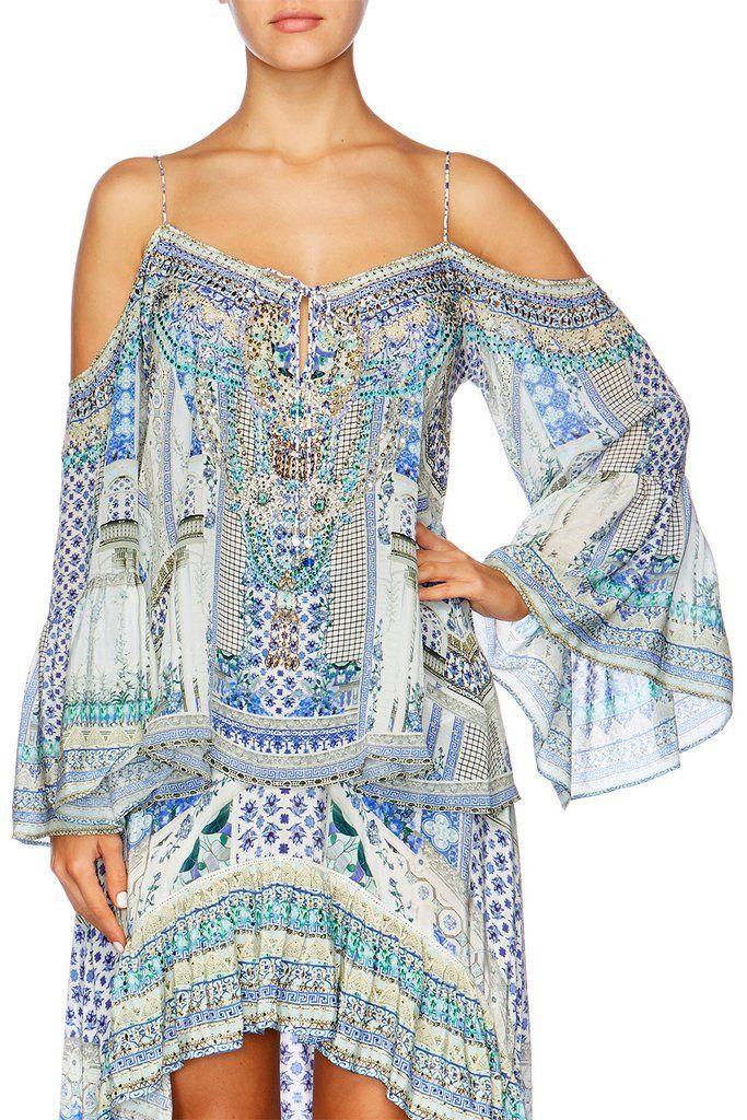 f61e8438069 Camilla Salvador Summer Drop Shoulder Top – Tangerine Beach ...