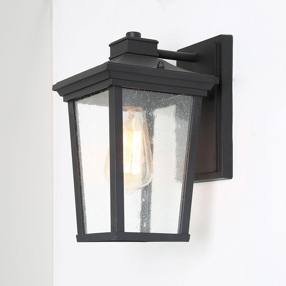 Vintage Outdoor Wall Sconce Seeded Glass Wall Light Fixture In 2021 Wall Lights Glass Wall Lights Seeded Glass