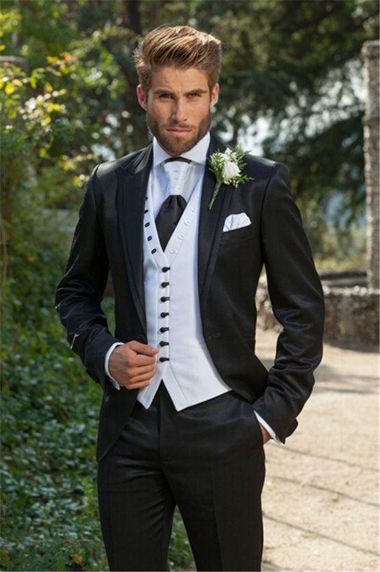 2015 Custom Made Italian Formal Men Suits Groom Tuxedos Wedding ...