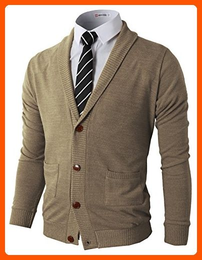 ce9a430aba H2H Mens Basic Shawl Collar Knitted Cardigan Sweaters with Ribbing Edge  BEIGE US L Asia XL (CMOCAL07) - Mens world ( Amazon Partner-Link)