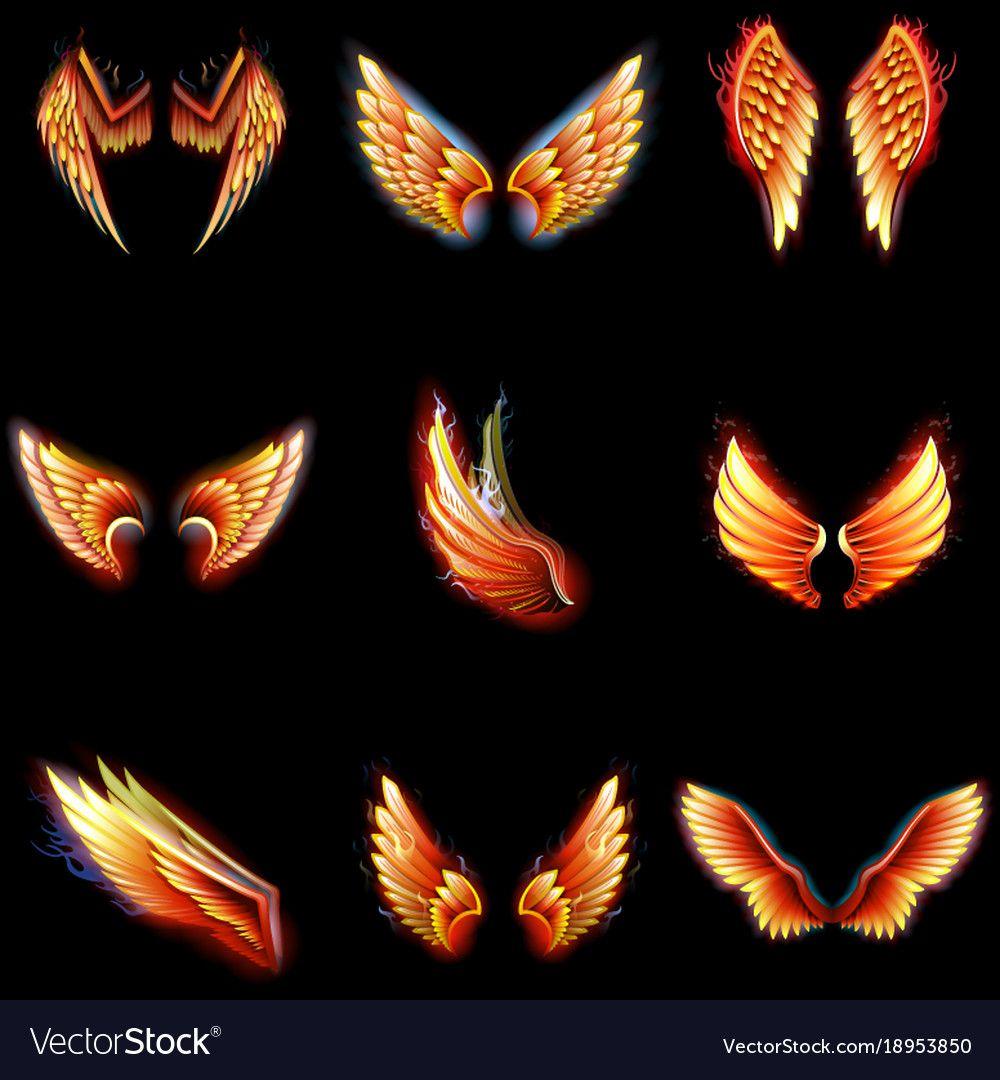 Fire Sprite Flame wings Phoenix Fairy Wings