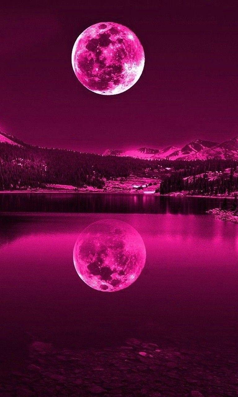 Free Pink moon.jpg phone wallpaper by twifranny