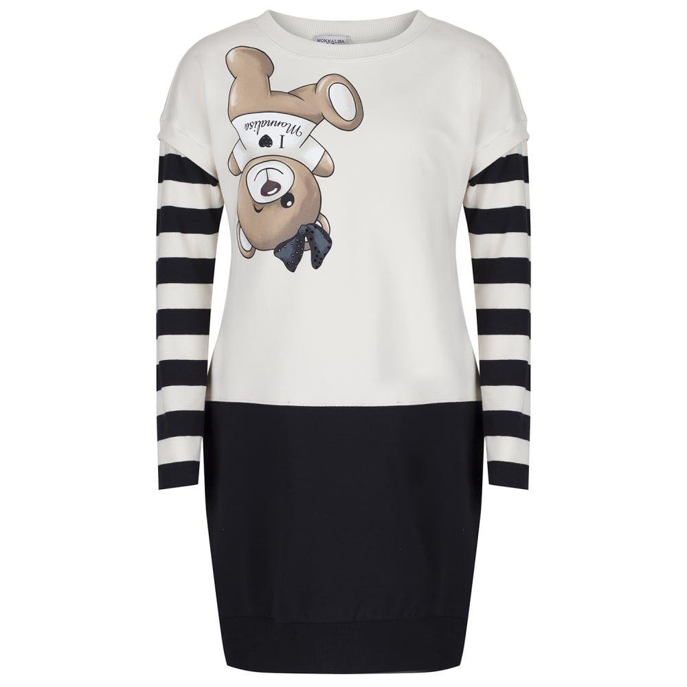 MONNALISA Striped bears longsleeved T-shirt ZKFBO