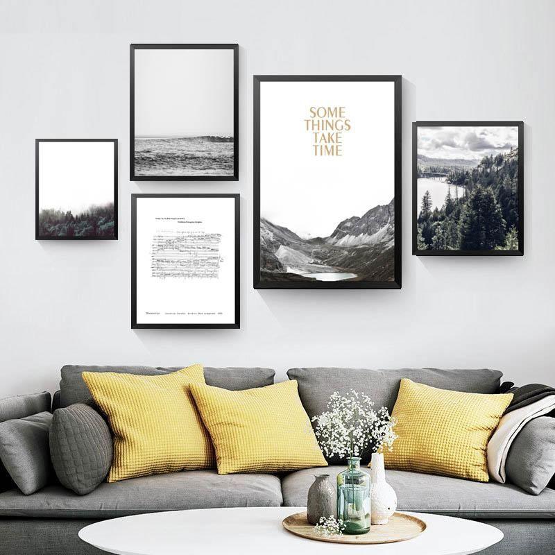 Photo of Einige Dinge brauchen Zeit Wanddekoration Gemälde für Raum Leinwand drucken Poster, Natur Landschaft Wandbilder für Wohnkultur YT0061