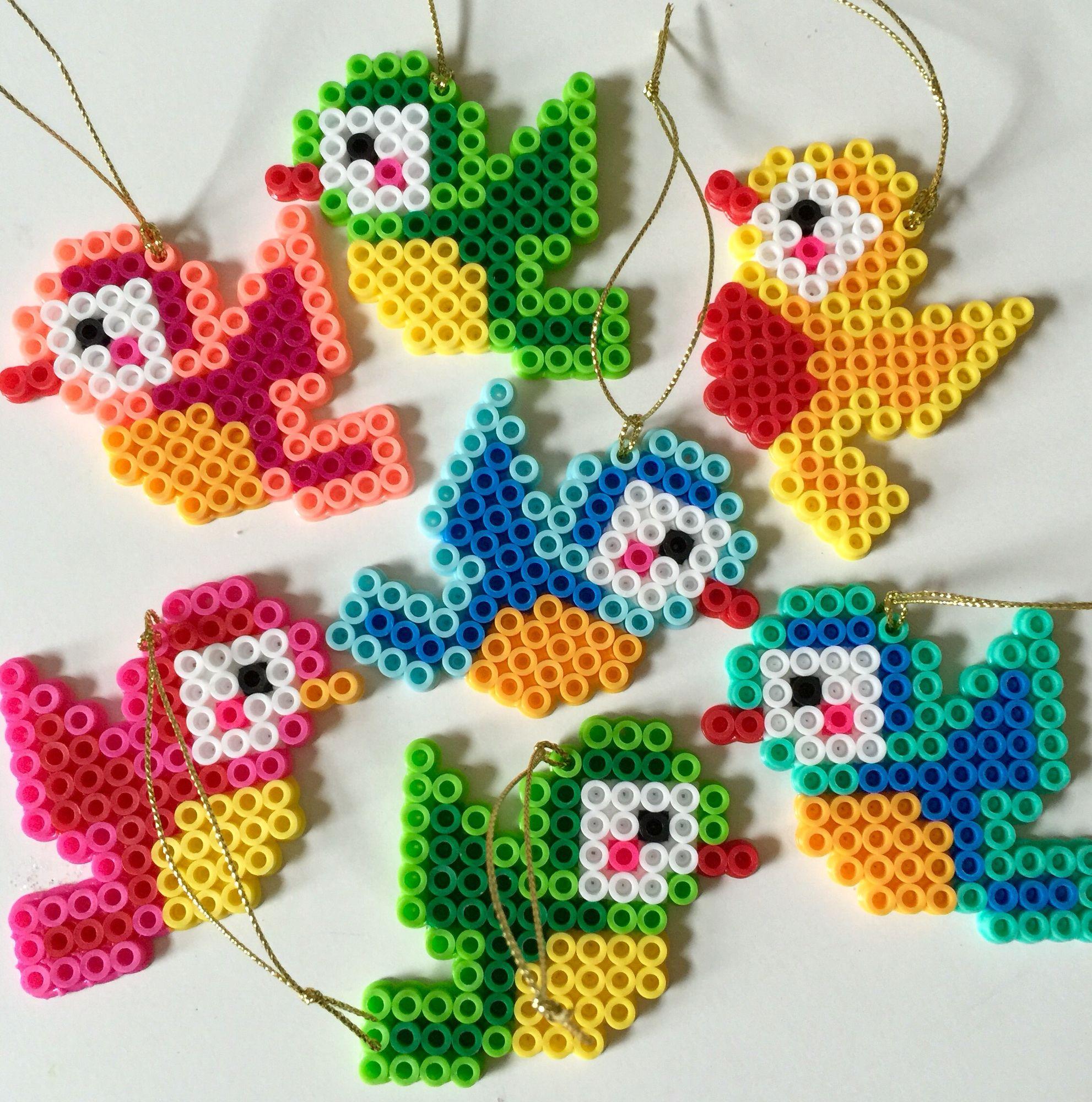 Perler Beads Bird Christmas Ornaments Easy Perler Bead Patterns Perler Beads Designs Perler Bead Templates