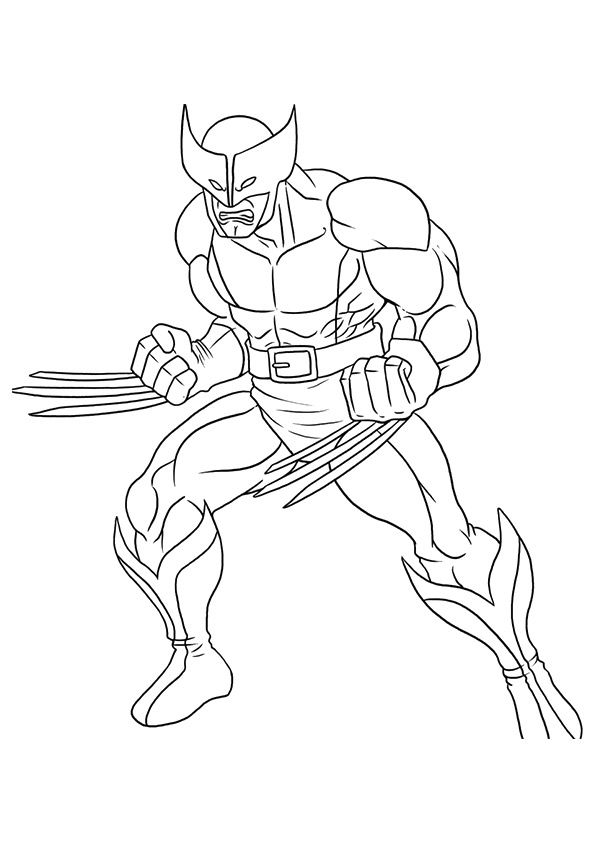 Wolverine Coloring Pages Logan Superhero Coloring Marvel
