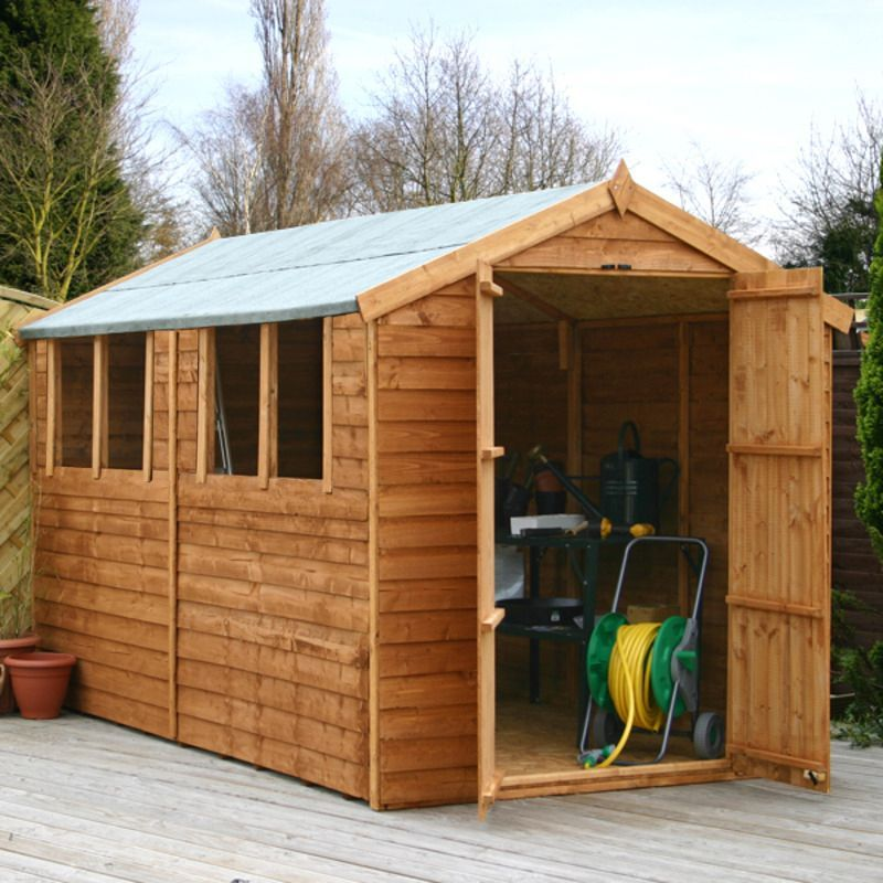 Waltons 10 X 6 Overlap Double Door Apex Wooden Shed Cheap Garden Sheds Garden Sheds For Sale Shed