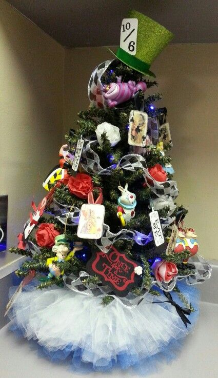 Alice In Wonderland Inspired Christmas Tree With Tutu Tree