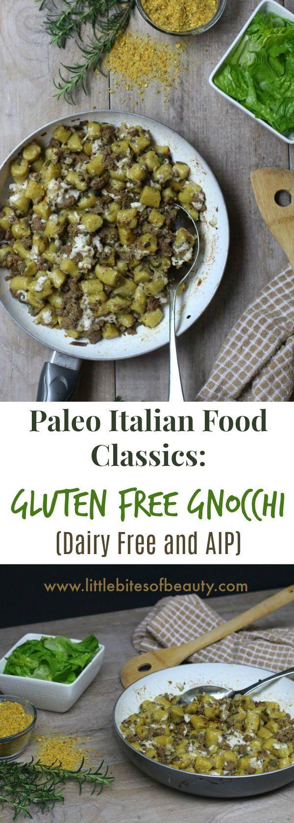 This gluten free, paleo gnocchi is garnished with a dairy ...