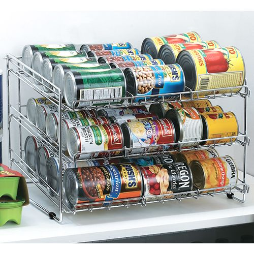 Marvelous The Chrome Wire Can Storage Rack Will Help Organize Canned Goods In Your  Panty Or Kitchen