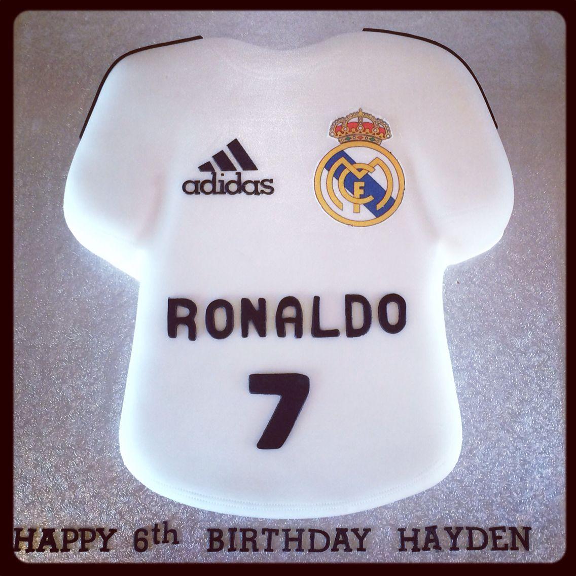 Real Madrid shirt cake