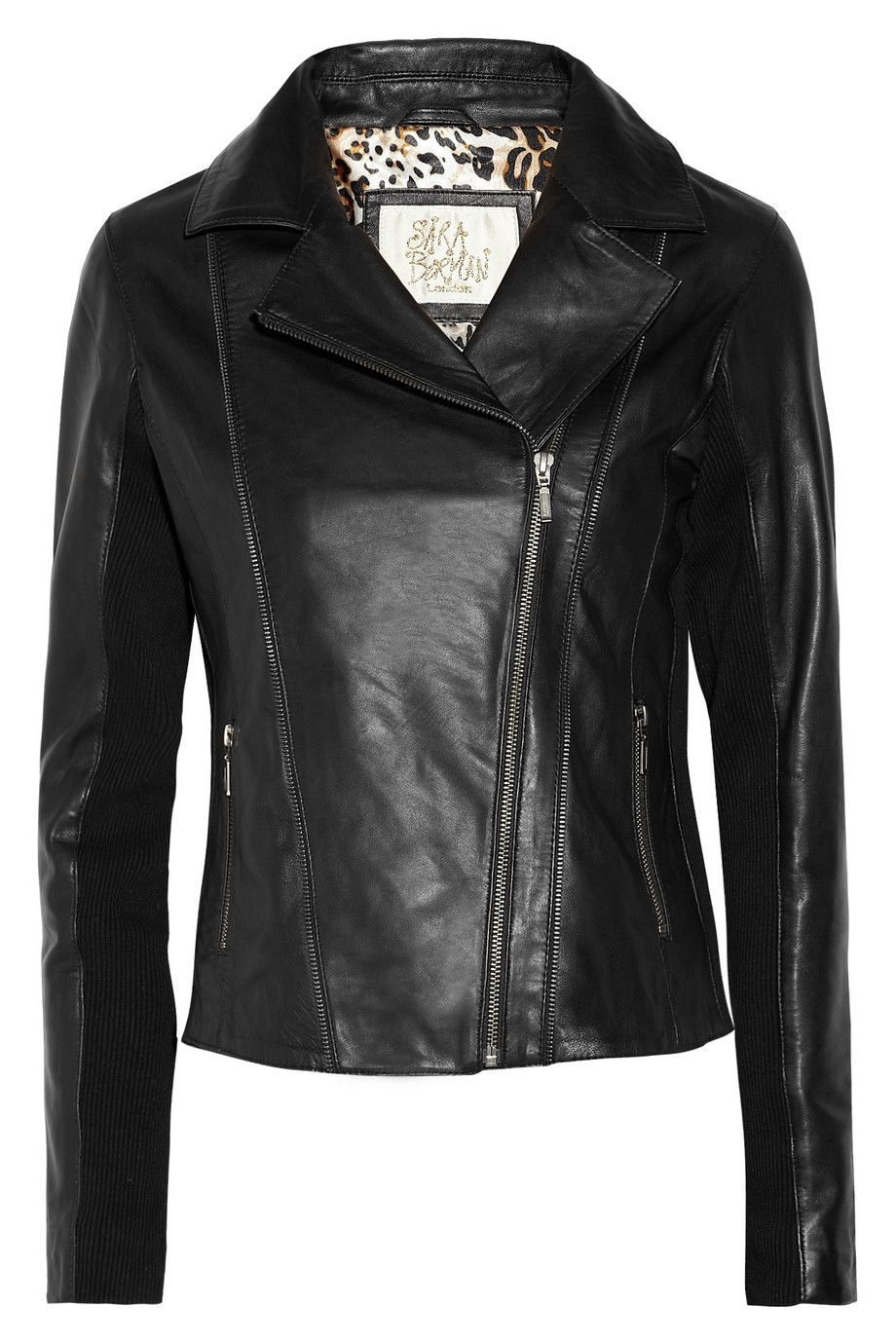 Want this. Rudy zipdetailed leather jacket by Sara Berman