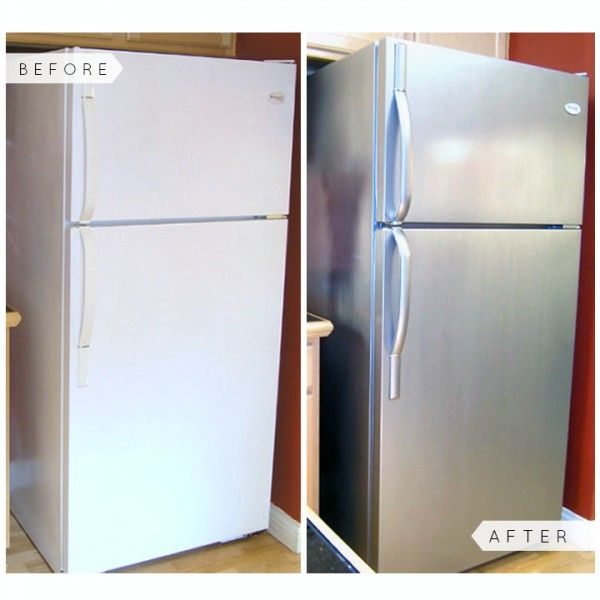 You don't have to live with that outdated fridge! Simply PAINT it! Stainless  Steel RefrigeratorAppliance ...