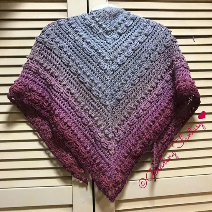 Lost in time shawl by Mijo crochet using Scheepjes Whirl, Slice O ...