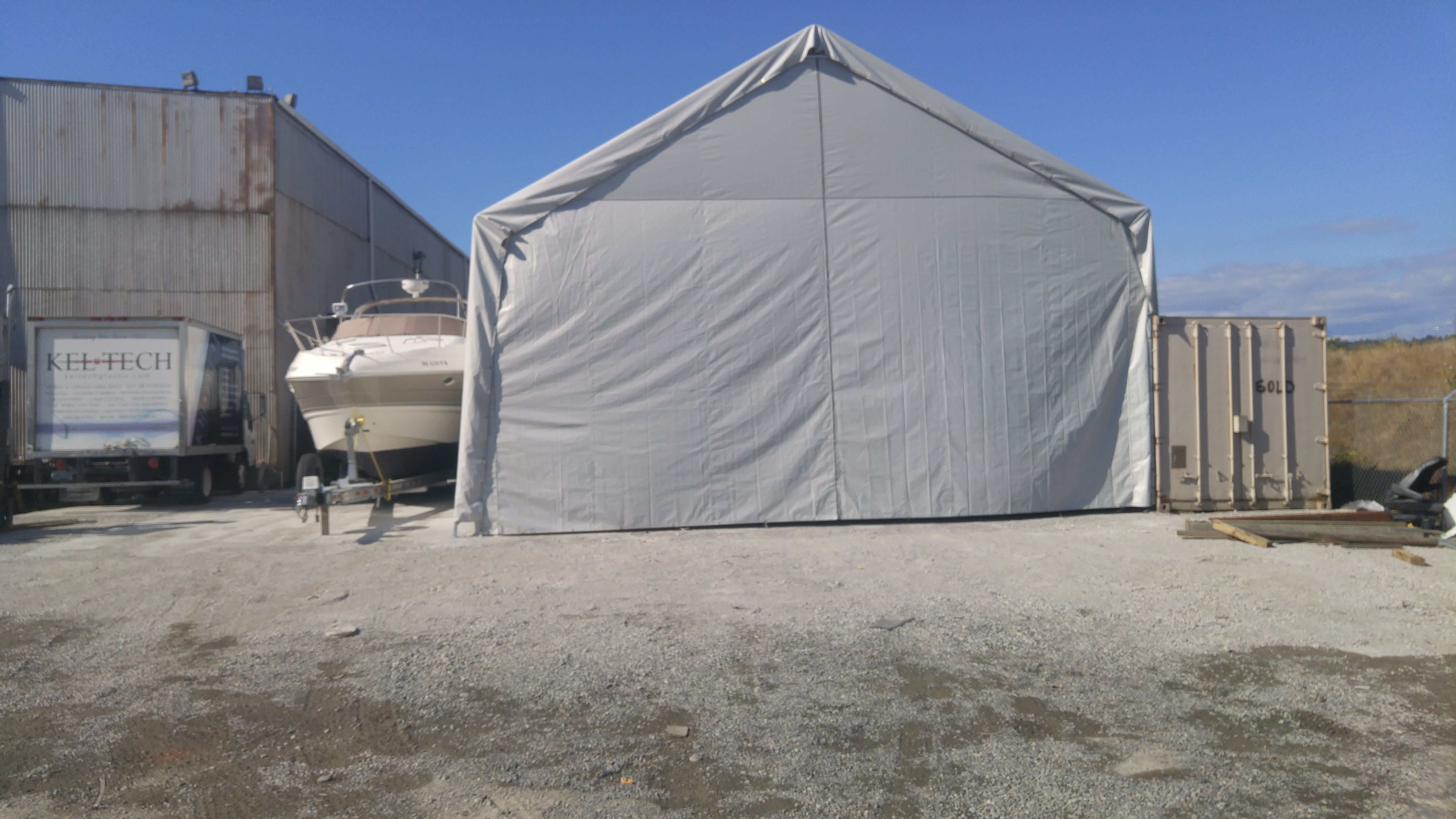 Hiscoshelters.com Commercial Industrial Portable Shelter Logic Carport  Garage Canopy Material Equipment Covers, Custom